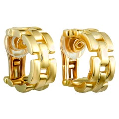 Cartier Maillon Panthere Yellow Gold Hoop Clip-On Earrings
