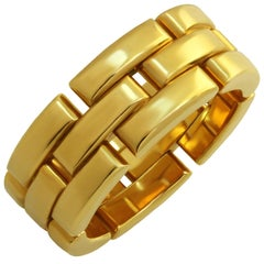 Cartier Maillon Panthere Yellow Gold Ring  Sz.6 - EU 52