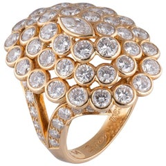 Cartier Marquise 18 Karat Gold and Diamond Ring