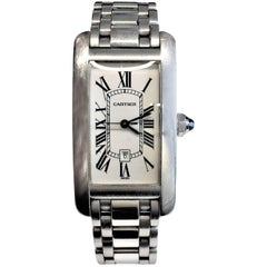 Cartier Medium Size White Gold Tank Americaine Watch