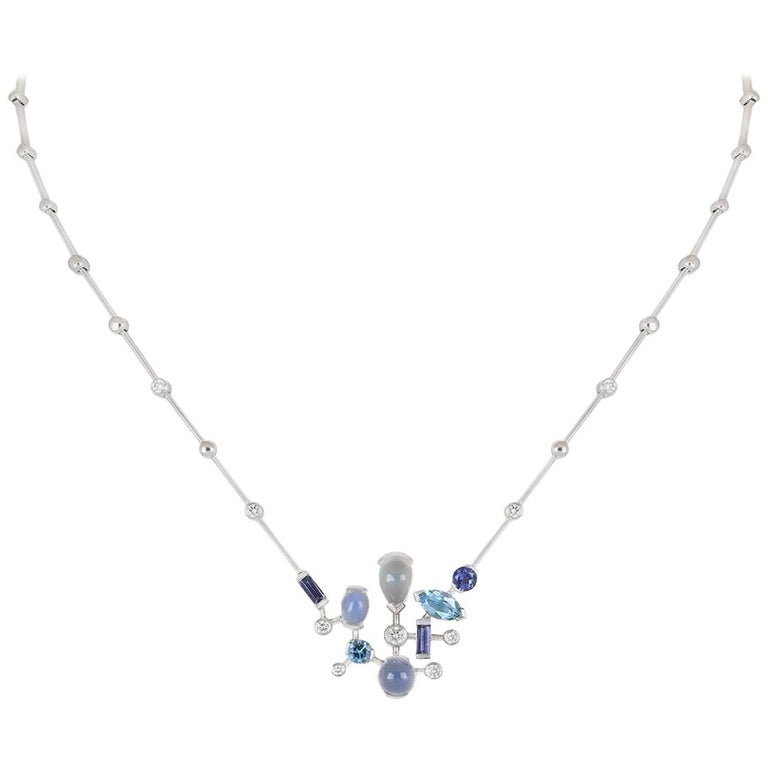 Cartier Meli Melo Diamond and Mulit-Gem Choker Necklace For Sale