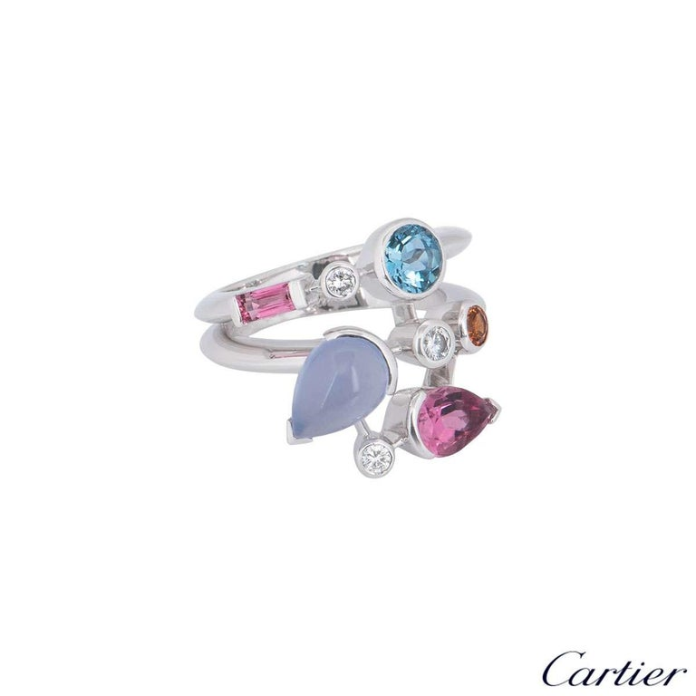 Cartier Meli Melo Diamond Multi-Gemstone Ring In Excellent Condition For Sale In London, GB