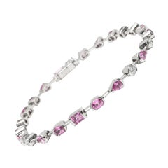 Cartier Meli Melo Pink Sapphire and Diamond Bracelet in 18K White Gold 0.6 CTW