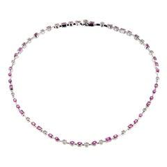 Cartier Meli Melo Pink Sapphire Diamond Necklace