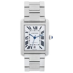 Cartier Men's Extra Large Tank Solo Stainless Steel Watch W5200028 3515