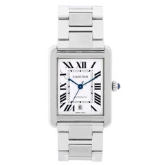 Cartier Men's Extra Large Tank Solo Stainless Steel Watch W5200028