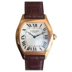 Cartier Men's Privee Tortue 18 Karat Rose Gold Mechanical Watch