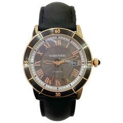 Cartier Men's Ronde Croisiere Automatic Rose Gold Gray Dial Watch W2RN0005