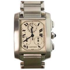 Cartier Men's Tank Francaise Chronograph Wrist Watch