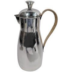 Cartier Mid-Century Modern Sterling Silver Martini Pitcher
