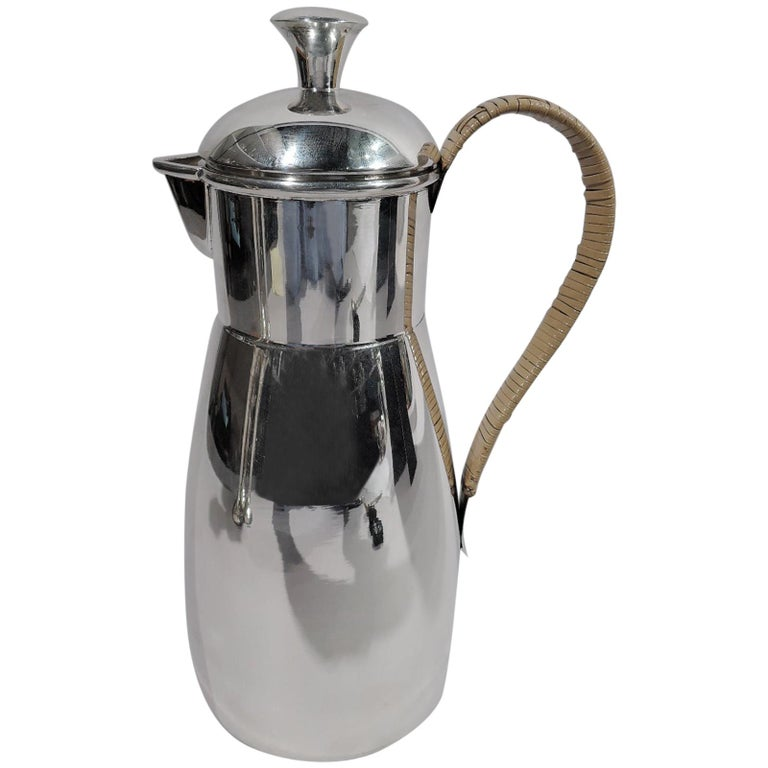Cartier Mid-Century Modern Sterling Silver Martini Pitcher For Sale