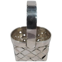 Cartier Midcentury Modern Sterling Silver Country Chic Basket