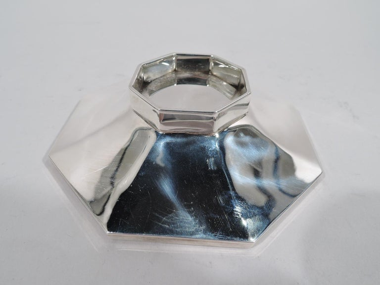 Cartier Mid-Century Modern Sterling Silver Handmade Covered Bowl In Excellent Condition In New York, NY