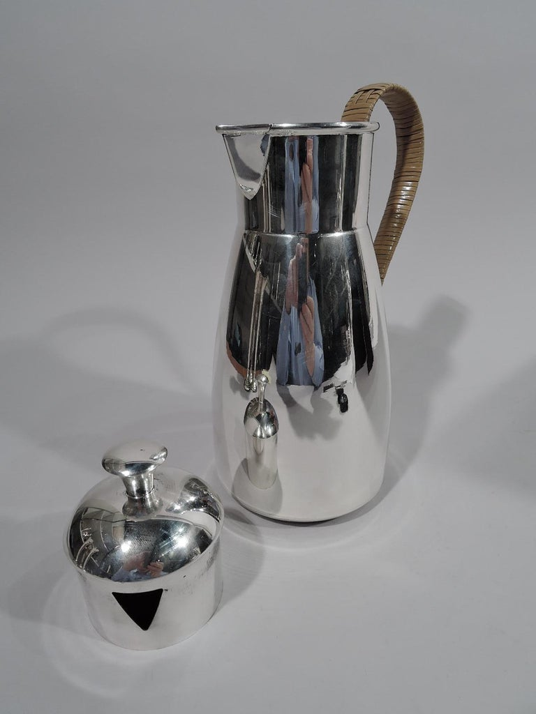 American Cartier Mid-Century Modern Sterling Silver Martini Pitcher For Sale