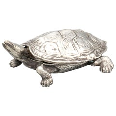 Cartier Midcentury Sterling Silver Turtle Box
