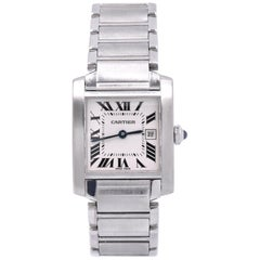 Cartier Midsize Tank Francaise Stainless Steel Watch Ref. 2465