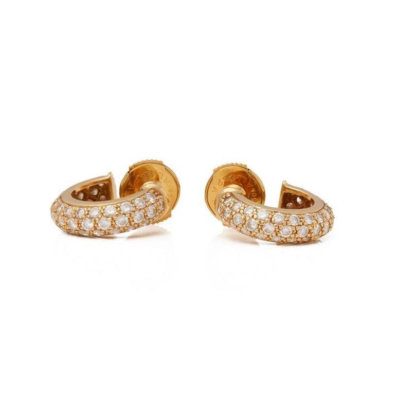 Women's Cartier Mimi Diamond Gold Huggie Earrings For Sale