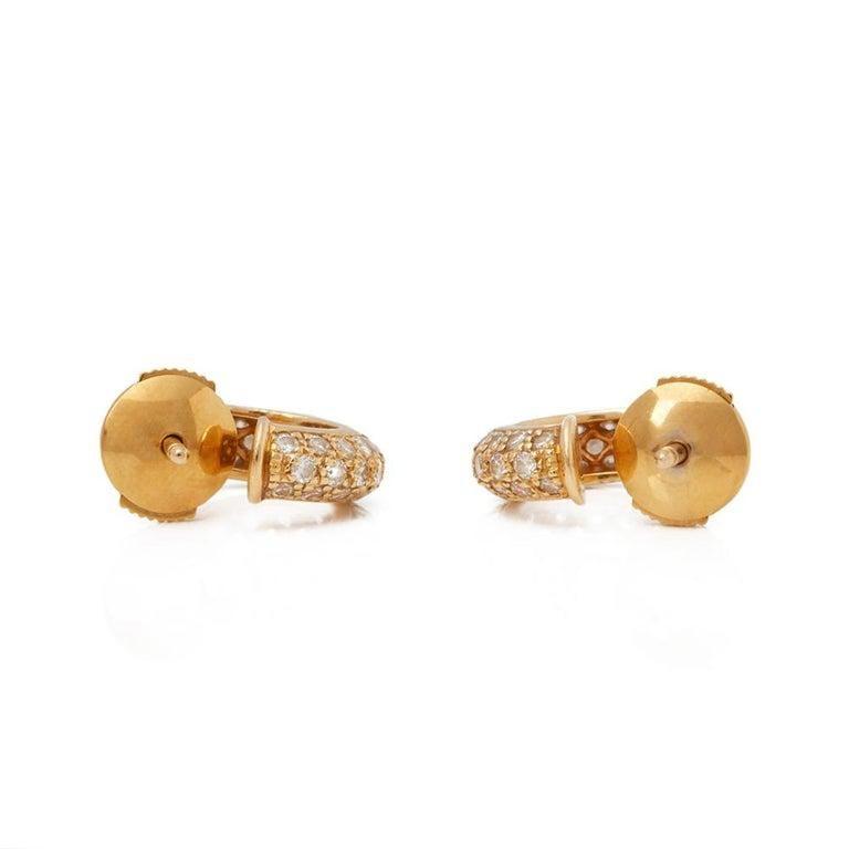 Cartier Mimi Diamond Gold Huggie Earrings For Sale 2