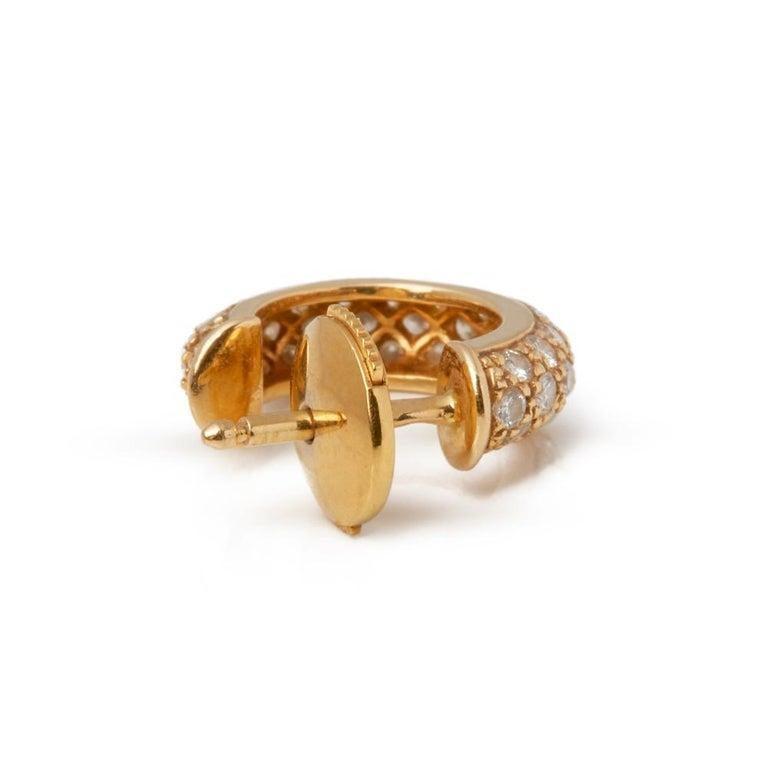 Cartier Mimi Diamond Gold Huggie Earrings For Sale 3