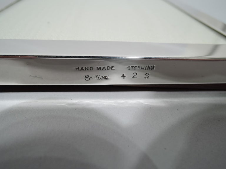 Cartier Modern Sterling Silver Frame for Portrait or Landscape Picture In Excellent Condition For Sale In New York, NY