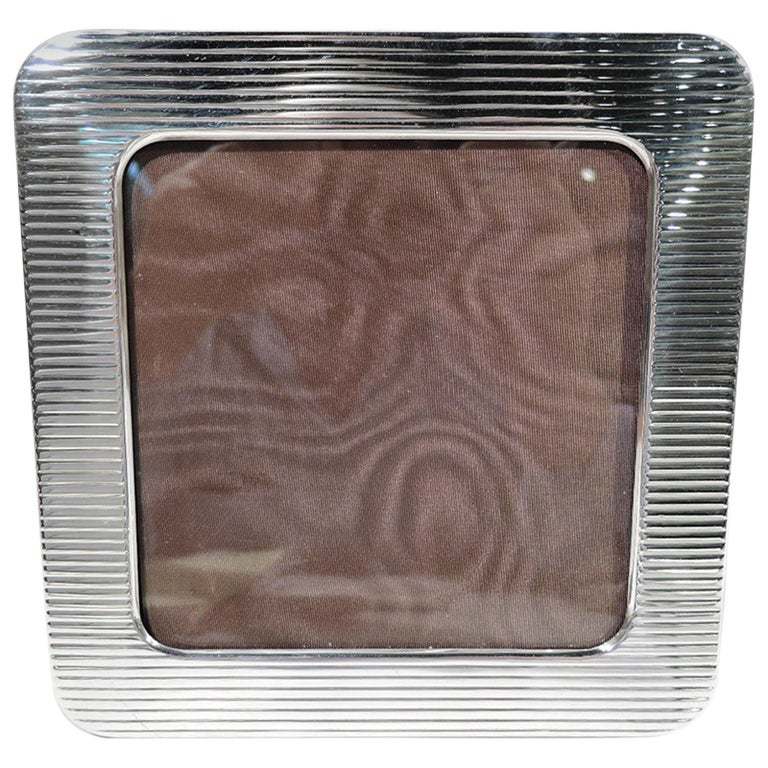 Cartier Modern Sterling Silver Square Picture Frame