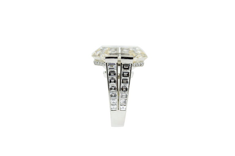 Cartier Monture 30.03 Carat GIA Certified Emerald Cut Diamond Engagement Ring In Excellent Condition For Sale In New York, NY