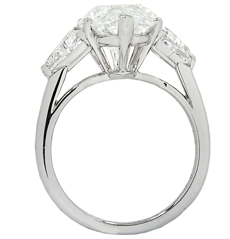 Modern Cartier Monture GIA Certified 7.48 Carat Type IIa Marquise Cut Diamond Ring For Sale
