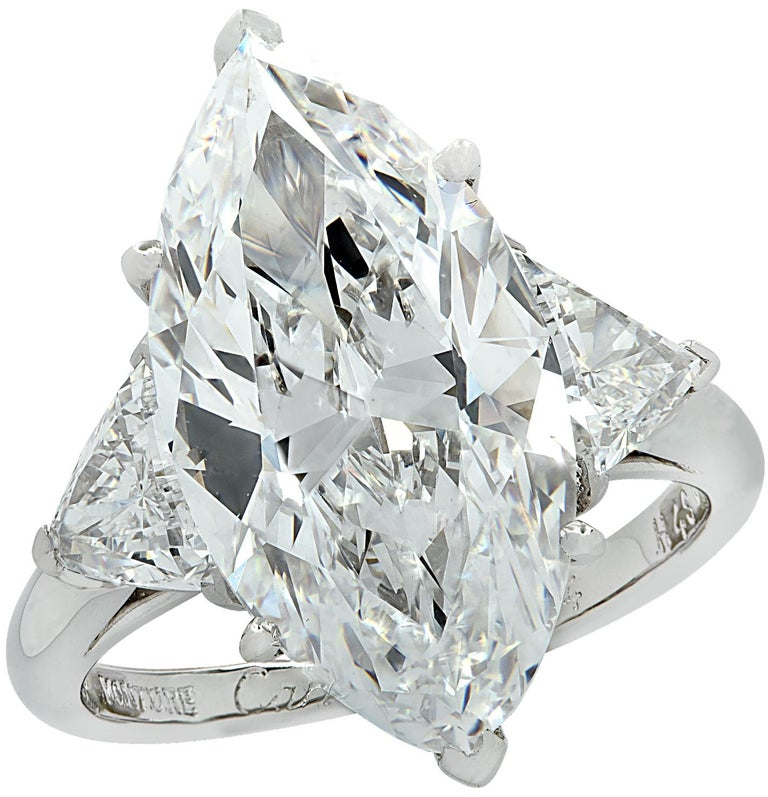 Cartier Monture GIA Certified 7.48 Carat Type IIa Marquise Cut Diamond Ring For Sale 2