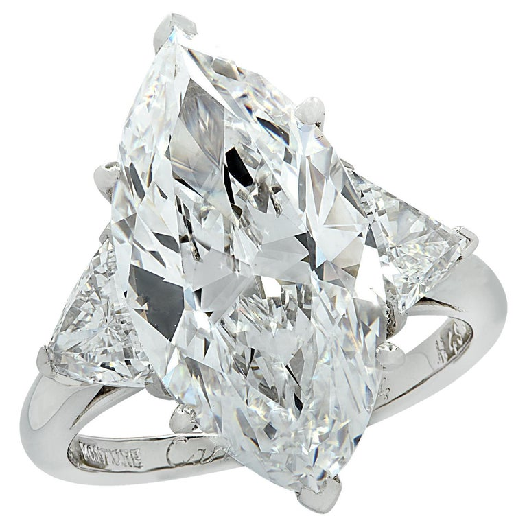 Cartier Monture GIA Certified 7.48 Carat Type IIa Marquise Cut Diamond Ring For Sale