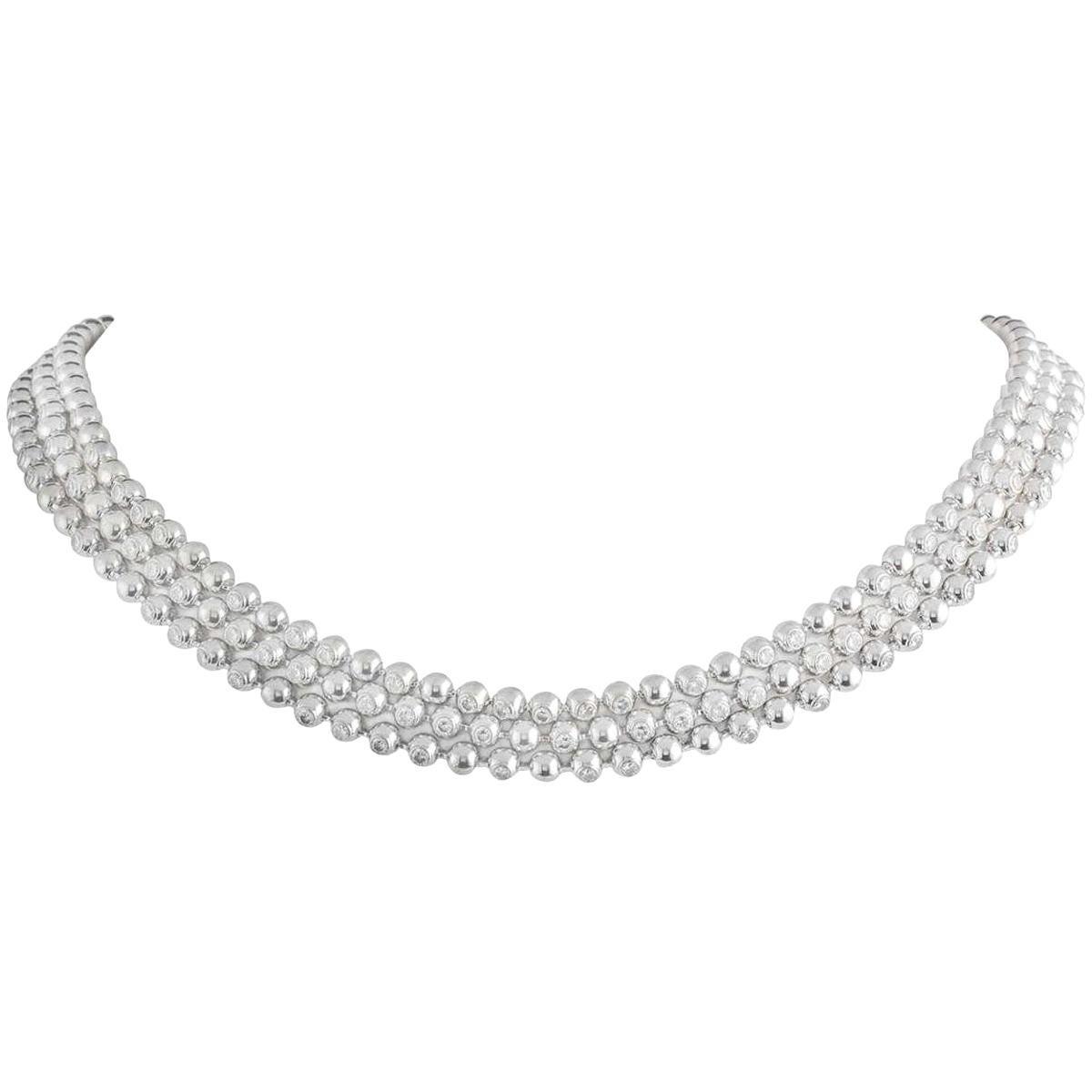 Cartier Moonlight Diamond Choker Necklace 6.00 Carat