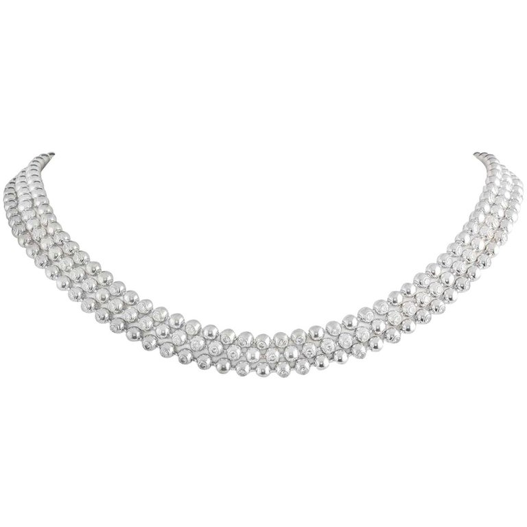 Cartier Moonlight Diamond Choker Necklace 6.00 Carat For Sale