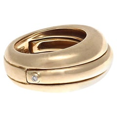 Cartier Movable Diamond Gold Ring