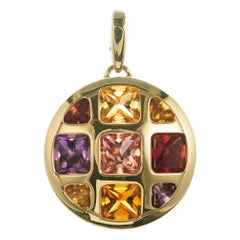 Cartier Multi-Gemstone Yellow Gold Pasha Pendant Enhancer