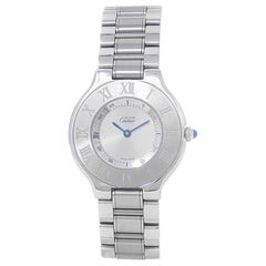 Cartier Must 21 1330, Silver Dial, Certified and Warranty