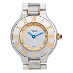 Cartier Must 21 1340, Blue Dial, Certified and Warranty