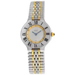 Cartier Must 21- 1340 Gold and Stainless Steel Watch