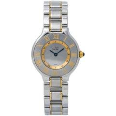 Cartier Must 21 1340, Silver Dial, Certified and Warranty