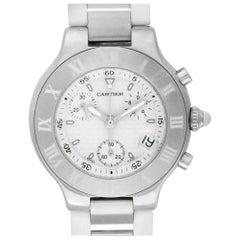 Cartier Must 21 2424, Beige Dial, Certified and Warranty