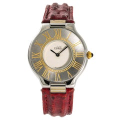 Cartier Must 21 9011 Women's Quartz Stainless Steel Watch Cream Dial