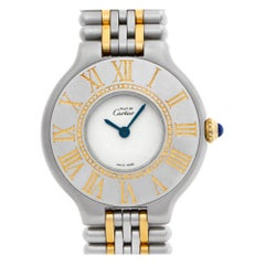 Cartier Must 21 A00382, White Dial, Certified and Warranty