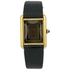 Cartier Must 21 No-ref#, Gold Dial, Certified and Warranty