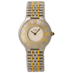 Cartier Must 21 No-ref#, Off White Dial, Certified and Warranty