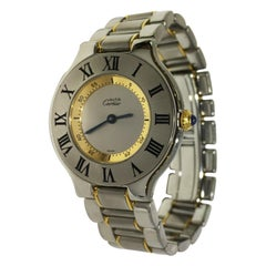 Cartier Must 21 Stainless Steel and 18 Karat Yellow Gold Watch 1330