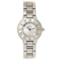 Cartier Ladies Stainless Steel Must 21 Quartz Wristwatch