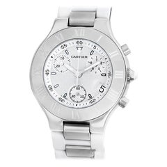 Cartier Must 21 W10184U2, Silver Dial, Certified and Warranty