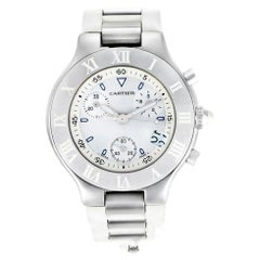 Cartier Must 21 W10184U2, White Dial, Certified and Warranty
