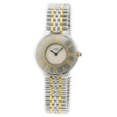 Cartier Must 21 Women's Quartz Watch Cream Dial Two-Tone Ss