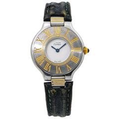 Cartier Must De 21 Deployment Clasp Ladies Quartz Watch