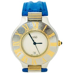 Cartier Must De 21 Steel Gold Roman Dial Unisex Watch