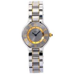 Cartier Must De Cartier 21 1340 Two Tone Quartz Ladies Watch